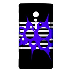 Blue abstract design Sony Xperia ion