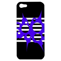 Blue abstract design Apple iPhone 5 Hardshell Case