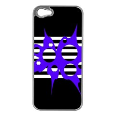 Blue abstract design Apple iPhone 5 Case (Silver)