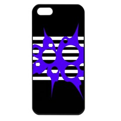 Blue abstract design Apple iPhone 5 Seamless Case (Black)