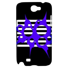 Blue abstract design Samsung Galaxy Note 2 Hardshell Case