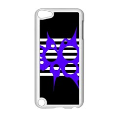 Blue abstract design Apple iPod Touch 5 Case (White)