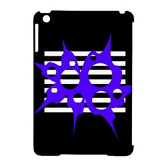 Blue abstract design Apple iPad Mini Hardshell Case (Compatible with Smart Cover)