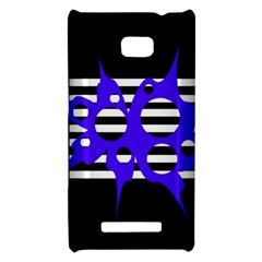 Blue abstract design HTC 8X