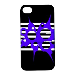 Blue abstract design Apple iPhone 4/4S Hardshell Case with Stand