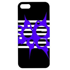Blue abstract design Apple iPhone 5 Hardshell Case with Stand