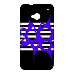 Blue abstract design HTC One M7 Hardshell Case