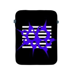 Blue abstract design Apple iPad 2/3/4 Protective Soft Cases