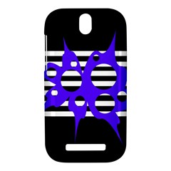 Blue abstract design HTC One SV Hardshell Case