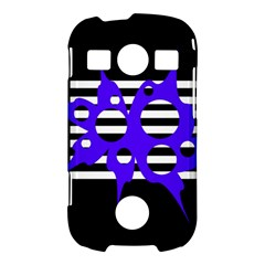 Blue abstract design Samsung Galaxy S7710 Xcover 2 Hardshell Case