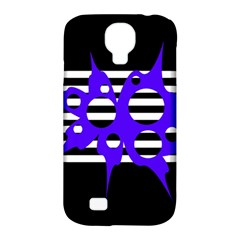 Blue abstract design Samsung Galaxy S4 Classic Hardshell Case (PC+Silicone)