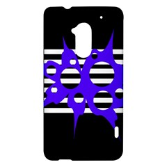 Blue abstract design HTC One Max (T6) Hardshell Case
