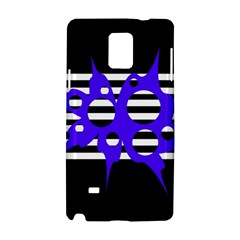 Blue abstract design Samsung Galaxy Note 4 Hardshell Case