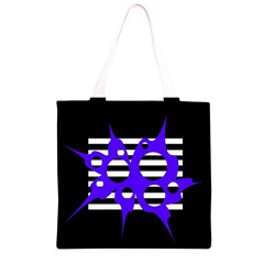 Blue abstract design Grocery Light Tote Bag
