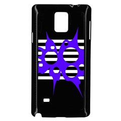 Blue abstract design Samsung Galaxy Note 4 Case (Black)