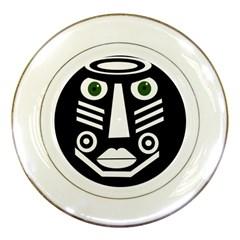 Mask Porcelain Plates