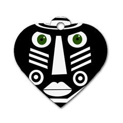 Mask Dog Tag Heart (Two Sides)
