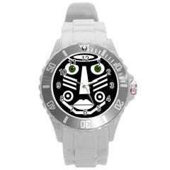 Mask Round Plastic Sport Watch (L)