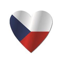 Flag Of Czech Republic Heart Magnet
