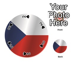 Flag Of Czech Republic Playing Cards 54 (Round)