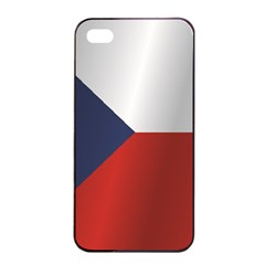 Flag Of Czech Republic Apple iPhone 4/4s Seamless Case (Black)