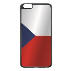 Flag Of Czech Republic Apple iPhone 6 Plus/6S Plus Black Enamel Case