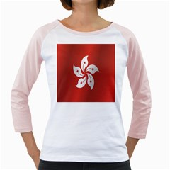 Flag Of Hong Kong Girly Raglans