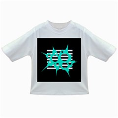 Cyan abstract design Infant/Toddler T-Shirts