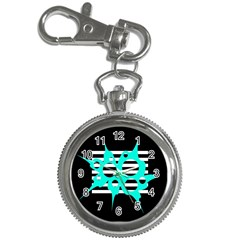 Cyan abstract design Key Chain Watches