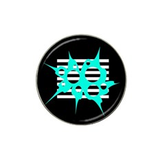 Cyan abstract design Hat Clip Ball Marker (4 pack)