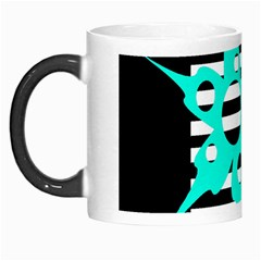 Cyan abstract design Morph Mugs