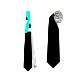 Cyan abstract design Neckties (Two Side)