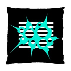 Cyan abstract design Standard Cushion Case (Two Sides)