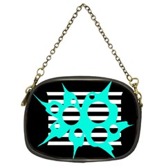 Cyan abstract design Chain Purses (Two Sides)