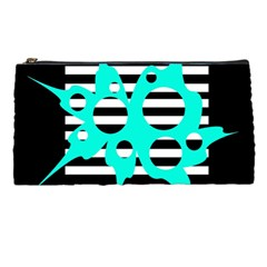 Cyan abstract design Pencil Cases