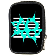 Cyan abstract design Compact Camera Cases