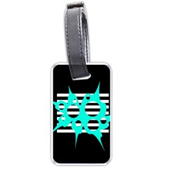 Cyan abstract design Luggage Tags (Two Sides)