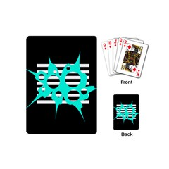 Cyan abstract design Playing Cards (Mini)
