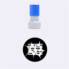 Cyan abstract design Rubber Round Stamps (Small)