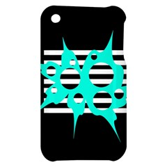 Cyan abstract design Apple iPhone 3G/3GS Hardshell Case