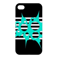Cyan abstract design Apple iPhone 4/4S Hardshell Case