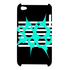 Cyan abstract design Apple iPod Touch 4