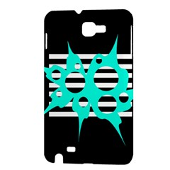 Cyan abstract design Samsung Galaxy Note 1 Hardshell Case