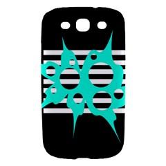 Cyan abstract design Samsung Galaxy S III Hardshell Case