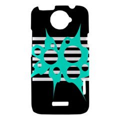 Cyan abstract design HTC One X Hardshell Case