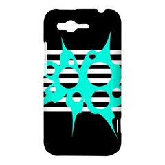 Cyan abstract design HTC Rhyme