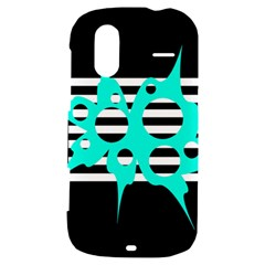 Cyan abstract design HTC Amaze 4G Hardshell Case