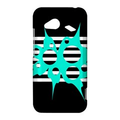 Cyan abstract design HTC Droid Incredible 4G LTE Hardshell Case