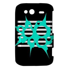Cyan abstract design HTC Wildfire S A510e Hardshell Case