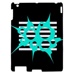 Cyan abstract design Apple iPad 2 Hardshell Case